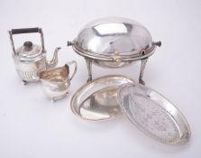 ϒ A Victorian silver small tea pot by Horace Woodward & Co.