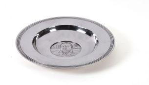 [Winston Churchill interest] A silver commemorative dish by C. J. Vander Ltd