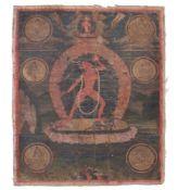 A thangka depicting Sarvabuddhadakini