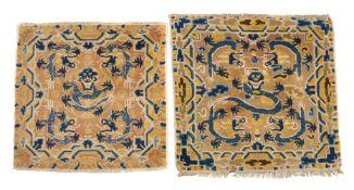 Two Chinese Ningxia 'Five Dragons' meditation mats