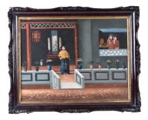 A Chinese export painting
