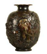 A Large Japanese Bronze Vase