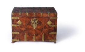 ϒ A William & Mary gilt metal mounted kingwood coffre fort or strong box, late 17th century