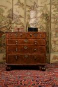 A William & Mary burr walnut, burr oak and feather banded chest of drawers, circa 1690