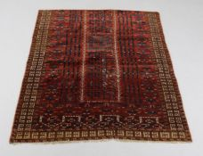 A Turkmen Saryk Ensi rug fragment