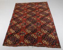 A fragment from a small Turkmen Ersari carpet