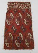Two Turkmen Kizileyek carpet fragments