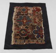 Two antique Turkish carpet fragments