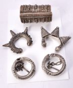 A pair of Northern Indian tribal cuff bracelets