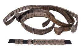 Three Russian silver belts