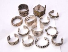 A collection of twelve Indian and Bedouin tribal bangles