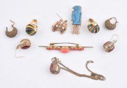 An Egyptian clip brooch