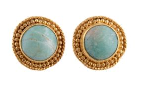 A pair of amazonite ear studs by Natalia Josca