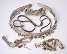 An Egyptian silver belt