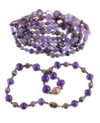 An amethyst bead necklace by Natalia Josca