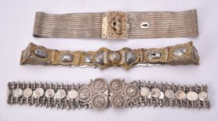 Three Ottoman or Egyptian silver belts