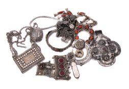 ϒ An Egyptian silver coloured scarab pendant