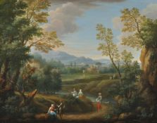 Follower of Francesco Zuccarelli (18th century), Italianate landscape with figures