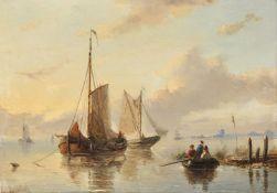 Attributed to Jan Jacob Spohler (Dutch 1811-1866), Dutch fishing boats