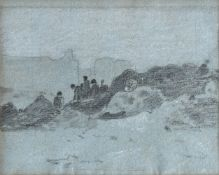 Attributed to John Linnell (British 1792-1882), A set of five landscape and figurative sketches (5)