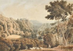 William Turner of Oxford (British 1789-1862), Berry Pomeroy Castle, Devon