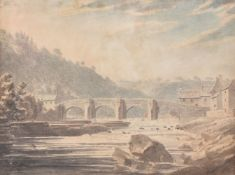 Attributed to Edward Dayes (British 1763-1804), Richmond Bridge, Yorkshire