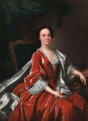 Circle of Thomas Hudson (British 1701-1779), Portrait of Ellen Johnson (1731-1780), daughter of Sir