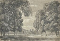 Attributed to William Turner of Oxford (British 1789-1862), Windsor from Eton College Playing Fields