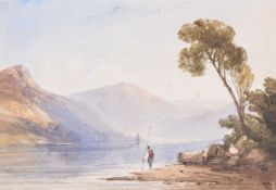 Anthony Vandyke Copley Fielding (British 1787 - 1855), The Skiddaw range from Derwent Water