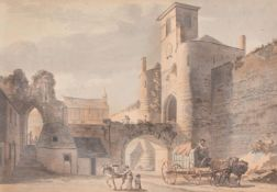 Paul Sandby (British 1731 – 1809), The East side of Caernarvon