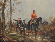 Christian Sell the Elder (German 1831-1883), Two 19th century military scenes (2)