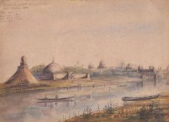 British School (19th century), Indian landscape