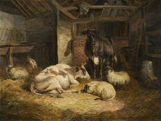 John Frederick Herring Jnr (British 1816-1907), Farmyard friends