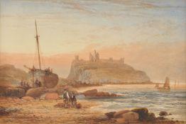 Thomas Miles Richardson Jnr (British 1813-1890), Dunstanburgh Castle, Northumberland