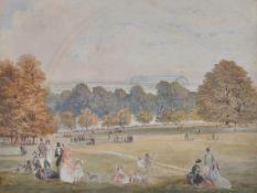 Attributed to Thomas Homer Shepherd (British 1793-1864), View from Hyde Park of the Great Exhibition