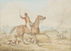 Henry Alken (British 1785-1851), Huntsmen and hounds; Full cry (2)