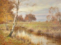 Edward Wilkins Waite (British 1854-1924), View of Tillingbourne at Abinger Hammer in Autumn