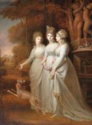 Richard Clack (British 1804-1875) after Richard Cosway, Lucy, Harriet and Caroline, daughters of Wil