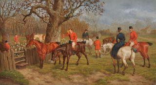 Edward Benjamin Herberte (British 1857-1893), Set of four hunting scenes (4)