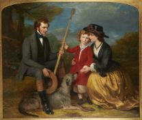 Eden Upton Eddis (British 1812-1901)Portrait of William Courtenay, Margaretta and Charles William Mo
