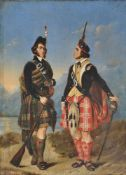 *** Schoppe, Two Scottish Soldiers in a Highland landscape