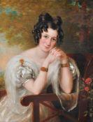 E. F. Green (British fl. 1824-1851), Portrait of a seated lady
