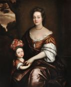 Circle of Michael Dahl (Swedish 1659-1743), Portrait of Mrs Curson and her son John Curson from Kirb