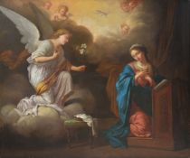 Follower of Bon de Boullogne (French 1649-1717), The annunciation
