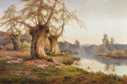 Alfred de Breanski Snr (British 1852-1928), Autumn leaves, Burnham Beeches