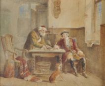 Attributed to Louis Von Hagn (German 1819-1898), The moneylender