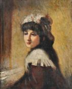 Attributed to Luigi Conconi (Italian 1852-1917), Portrait of a young woman