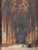 Franz Alt (Austrian 1821-1914), Church interior