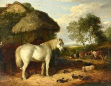 Arthur James Stark (British 1831-1902), Farmyard friends