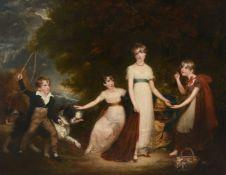 Attributed to Sir William Beechey (British 1753-1839)The Stirling Children